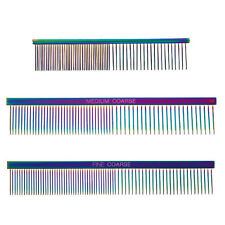 Rainbow Color Greyhound Combs for Dog Grooming - 3 Sizes - Sets Available too !