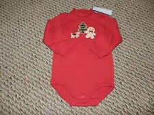 NWT Gymboree Boys Red Gingerbread Dog/Tree/Boy Bodysuit 12 18 18 24 mos
