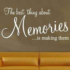 Memories...  wall art sticker quote LARGE design Bedroom