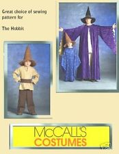 PATTERN McCALLS Mens S t XL The Hobbit Galdolf Hat Kids Wizard Robe Costume 5213
