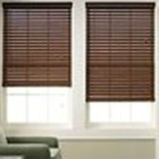 "NEW  2"" Printed Faux Wood Window Shade/Blind ~ VARIOUS  SIZES & COLORS"