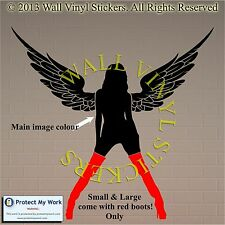 Sexy Angel Lady Woman Face People Wall Art Stickers Decal Transfers Girl Eyes