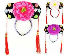 New Chinese Japanese Oriental Princess Girls Peony Hairband Hair Accessories Hat