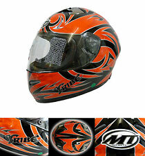 MT Tribe Helmet Motorcycle Full Face Red/Black Falcon
