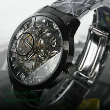 NEW Men's Skeleton  Mechanical Stainless Steel Case Classic Wrist Watch