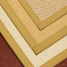 "Carpet Stair Treads 9""x29"" Wool Sisal with Natural Cotton Binding"