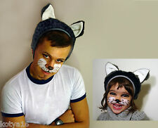 Cat Fox Wolf Bear Bunny Mouse  Hat  Child or  Adult Costume Carnival Party