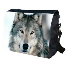 WOLF Wolves Animal Wild Indian Native School College LARGE Messenger Bag