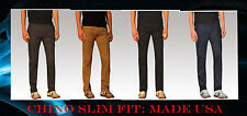 Chino Pants ,  for Men. Slim fit. Flat pocket, top quality, made USA