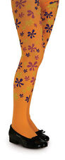 Orange Flower Power Tights Hippie 60s Dress Up Halloween Child Costume Accessory