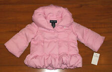 POLO RALPH LAUREN BABY TODDLER GIRLS PINK DOWN COAT SIZE 9 12 18 MONTHS NEW $145