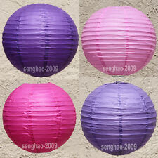 "BULK-12ea (10""12"") Pink/Hotpink/Purple/Lavender Paper Lantern Party Home Wedding"