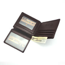 New Mens Wallet KOREA -112 Slim Genuine Leather Bifold Simple Fashion Holder Hit