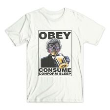 THEY LIVE T SHIRT OBEY CONFORM CONSPIRACY VENDETTA NWO T-SHIRT RODDY PIPER D