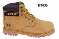 "New Kingshow Men's Wheat 6"" Work Boots 6-13W =US Seller= 8036"