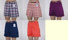 Gloria Vanderbilt Belted Shorts CLEARANCE Misses No Gap Plaid or Solid Colors