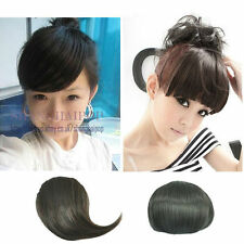 Bangs Fringe Clip On In Fake Hair Extension Women Party Fancy Dress Black/Brown