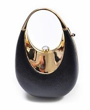 Metal Frame With Rhinestone Crystal Accents Evening Bag (EB093409)
