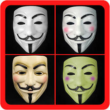New V for Vendetta Mask Guy Fawkes Anonymous Mens Fancy Dress Costume Collectors
