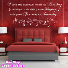 AEROSMITH BREATHING WALL ART QUOTE STICKER -  LOUNGE BEDROOM LYRICS LOVE DECAL