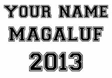 IRON ON T SHIRT TRANSFER - CUSTOM YOUR NAME - MAGALUF 2013 - HOLIDAY - LIGHT