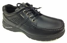 Mens Black Chunky Sole Shoes Casual Work School Faux Leather Smart Fashion