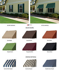 Traditional Window Awnings - Scalloped Valence in 7 Colors & 3 Stripes Designs