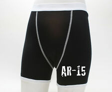 AR-15 Assault Rifle Boxer Briefs Mens Underwear S-XL Boxers Gun NRA GO USA!