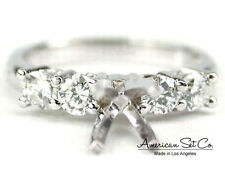 18K WHITE GOLD PRONG DIAMOND ENGAGEMENT RING SOLITAIRE SETTING