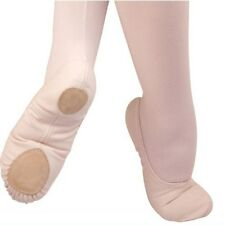Angelo Luzio 246 split sole ballet dance shoe stretch canvas girls adult pink