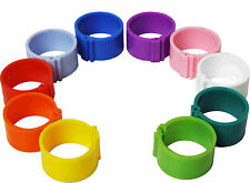 100 x 12 mm Clip On Leg Rings for Chickens, Ducks, Hens, Poultry, Bantams