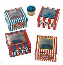 Circus Big Top Carnival Cupcake Boxes AS LOW AS 53¢ea Loot TREAT Favor  #32345
