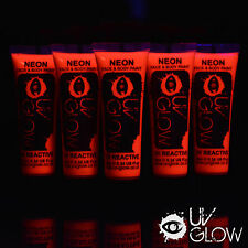 UV Glow Neon Face & Body Paint - 10ml Choose your Colour - Black Light Day Glow