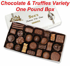 1 Pound See's Candies Favorite Chocolates Truffles Candy Pick Flavor + Gift Wrap