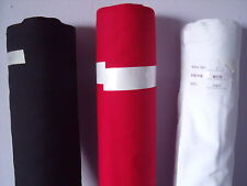 "Plain Solid Poplin Polycotton Fabric Dress White Black  Red 112cm / 44"" Wide"