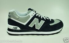 NEW BALANCE COMFORTABLE ATHLETIC SHOES 574 NAVY BLUE GRAY FOR MEN STYLE M574BGS