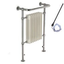 SOLAIRE Ramsey Traditional Victorian ELECTRIC Radiator & Heated Towel Rail