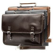 NEW Classic Vintage Men's Professional Business Briefcase Messenger Bag Leather