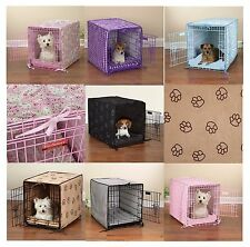 2 Piece Matching Crate Cover & Bed Sets for Dogs - Soft & Cozy Dog Beds & Covers