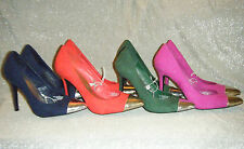 New Mossimo High Heels, Blue, Pink, Red, Green with Silver Toes! Pumps, Shoes