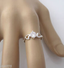 925 Sterling silver Clear CZ stone with HEARTS ring, size 7 US or N½ AU