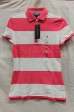 Tommy Hilfiger Pink and White Rugby Polo Women's XS,S,M,L,XL,XXL NWT NEW w/ TAGS