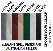 Elegant Spill Resistant Tablecloth  Micro check design  7 colours  16 Sizes