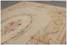 TOP SELLER! Aubusson Area Rug ANTIQUE FRENCH PASTEL Wool FREE SHIP! Many sizes!!
