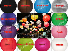 """12X 12""""round Chinese paper lanterns+ LED Light Wedding Party Floral decoration"""