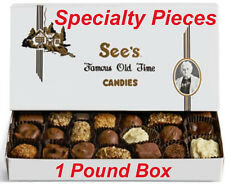 1 Pound See's Candies Specialty Chocolate Fudge Candy Pick Flavor + Gift Wrap