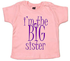 I'm the BIG Sister, sibling Funny CuteT-shirt Baby Girl Top Gift Clothes Present