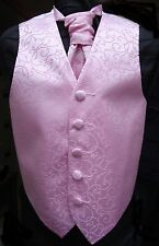 Boys Rose Pink Swirl Waistcoat w/wo Cravat or Tie or Bowtie from 15.45 to 18.45