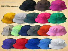 Bucket Hat Stone Washed Cotton Hats All Colors and Sizes Metal Eyelets Fisherman