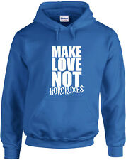 Make Love Not Horcruxes, Harry Potter inspired Printed Hoodie